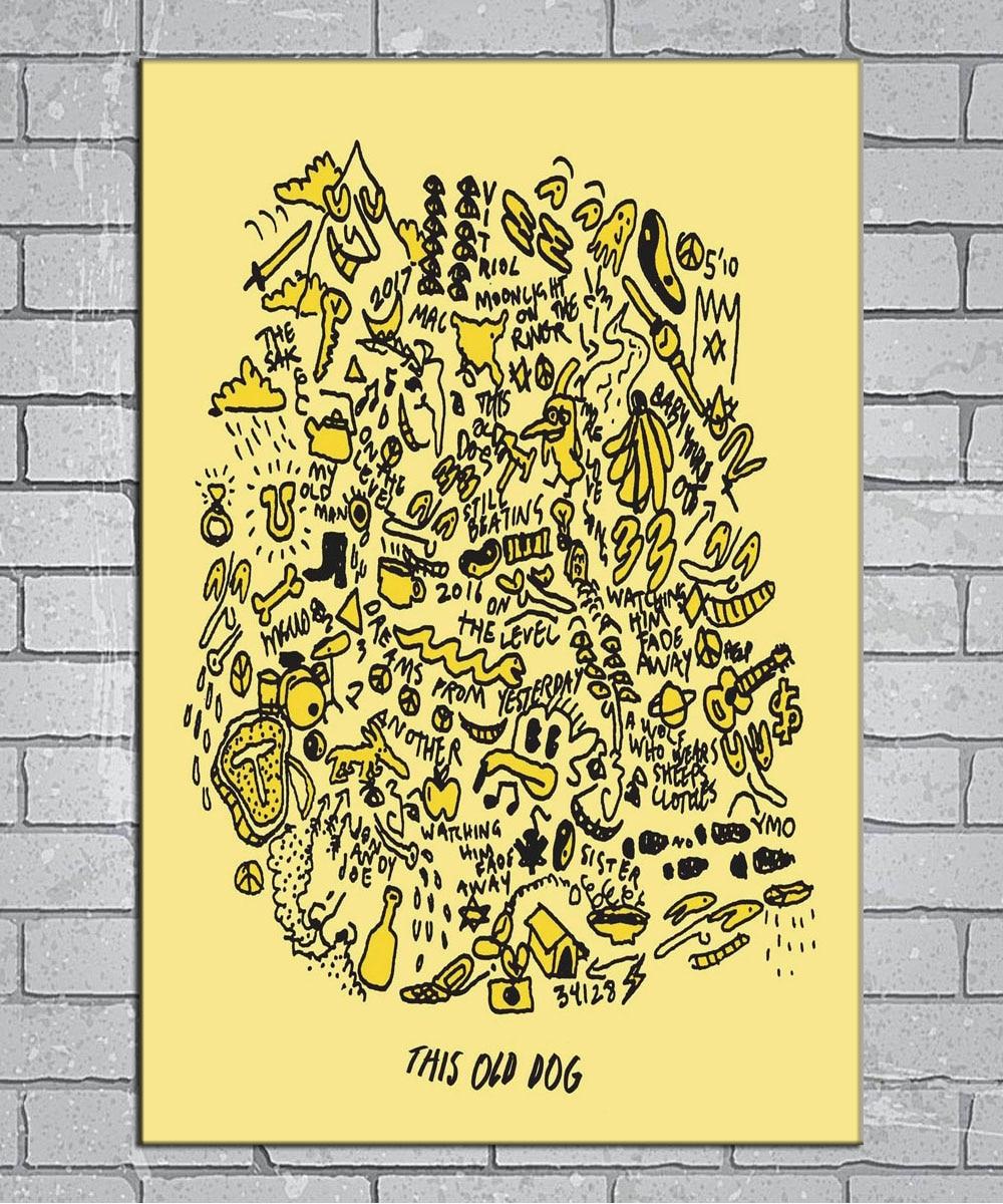 mac demarco post punk old dog light canvas custom poster 24x36 27x40 inch home decor n794
