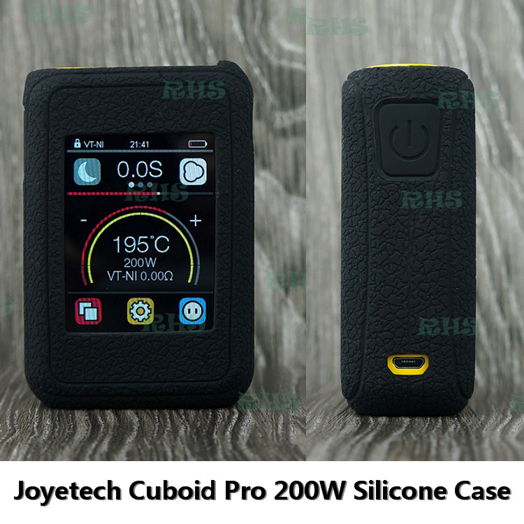 2017 Hot New Product 13 colors Silicone Case Cover for 200W Joyetech Cuboid Pro with 2