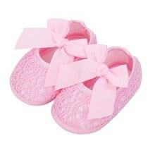 2019 New Newborn Infant Baby Soft Sole Crib Prewalker Girl Shoes Toddler Anti-Slip Bowknot First Walkers Summer стоимость