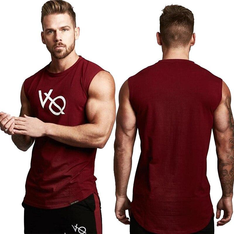 Vanquish Gyms 2019 Summer Fitness Men   Tank     Top   Mens Bodybuilding Stringers   Tank     Tops   Singlet Brand Clothing men Sleeveless Shirt