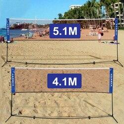 4.1 M/5.1 M Portatile Standard Badminton Netto Pieghevole Professionista di Pallavolo Formazione Piazza Maglia di Tennis Badminton Netto Quadrato