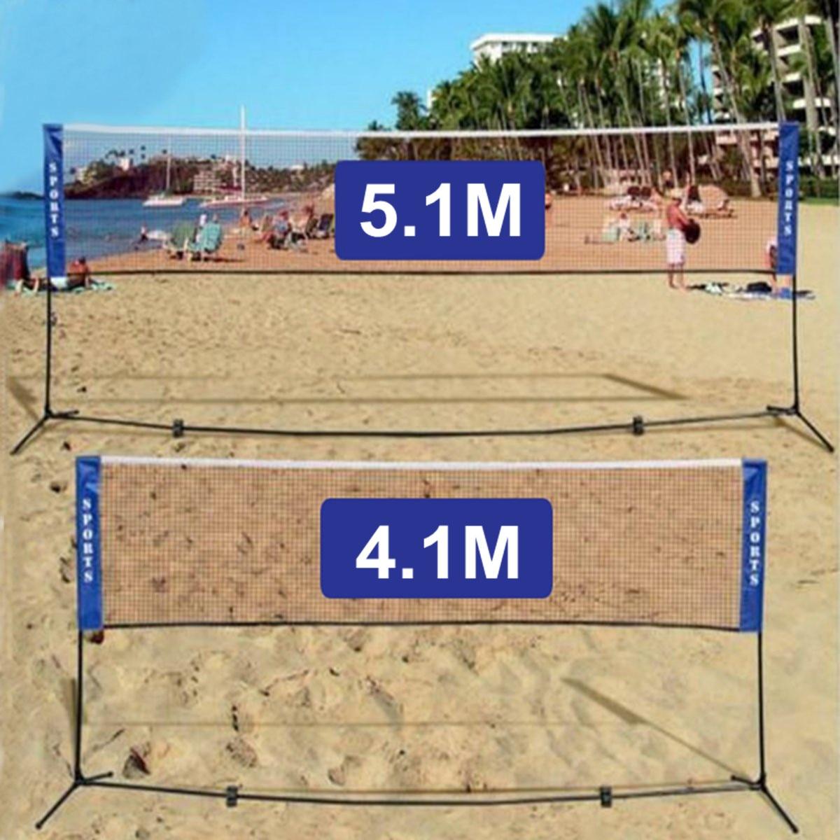 4.1M/5.1M Portable Standard Badminton Net Foldable Professional Volleyball Training Square Mesh Tennis Badminton Square Net