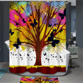 New Arrival Colorful Big Tree Printed Shower Curtain 3D Waterproof Shower Curtain for Bathroom