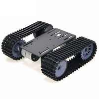 2018 V2.0 New Design mini TP101 Smart Tank Chassis Tracked Chassis Remote Control Platform with Dual DC Motor for DIY Arduino
