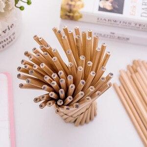 Image 3 - 100PCs/lot Eco friendly Cork Pencil HB Black Hexagonal Non toxic Standard Pencil Practical Sketch Pens Wholesale price