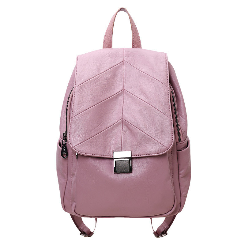 Brand Women Pu Leather School Backpacks for Teenage Girls Shoulder Bag Large Capacity Travel Bags Casual Daypacks female Mochila 2016 fashion women backpacks rivet soft sheepskin leather bags shoulder for teenage girls female travel bag free gift