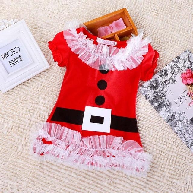 Trajes de navidad Vestido de Fiesta para Niñas Infantiles Vestidos ...