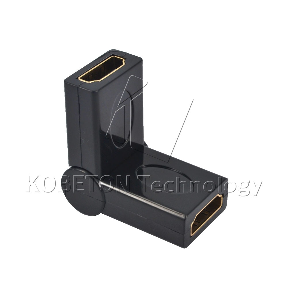 HDMI Standard 1.4 Female to Female FF 180 Degree Rotation Swivel 90 Folding Adapter Converter for Xbox 30 for PS4 Game HDTV