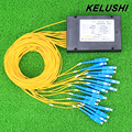 KELUSHI NEW 1 point 16 Telecom PLC Cassette optical Splitter with SC Optical Splitter Planar Waveguide Fiber branching device