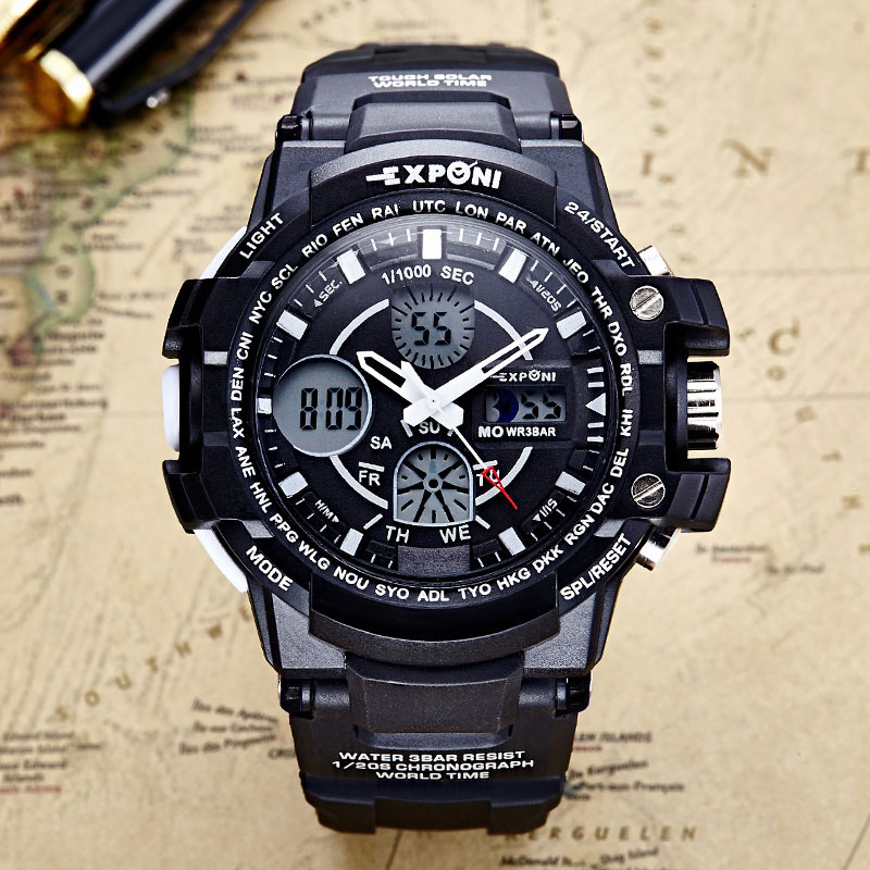 Date Chronograph Men Watch Waterproof Fashion Casual Silicone Strap Military Sport Watches Clock Relogio masculino