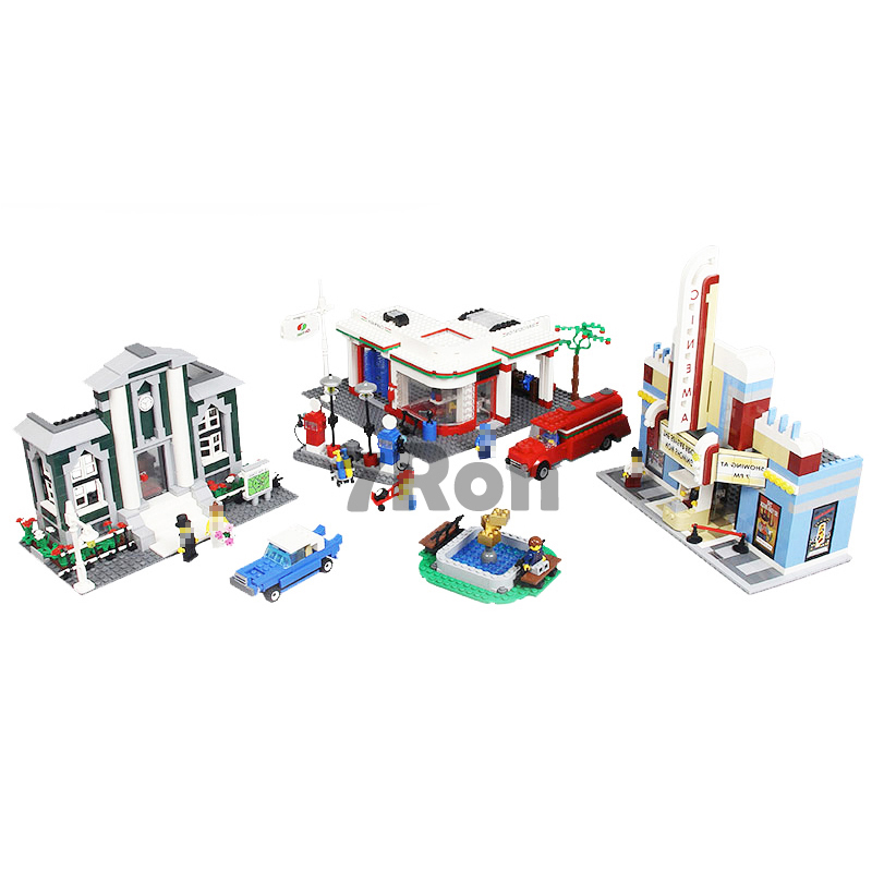 02022 2080pcs City 50th Anniversary Town Building Blocks Bricks educational Toys for children Compatible with lego city 10184 gudi block city large passenger plane airplane block assembly compatible all brand building blocks educational toys for children