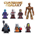 Mini Guardians of the Galaxy Groot Tree Man Ronan Rocket Raccoon Star Lord Drax figure Building Blocks Toy Compatible with Lego
