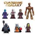 Mini guardianes del galaxy groot hombre árbol ronan cohete mapache Estrella Señor Drax figura Bloques de Construcción de Juguete Compatible con lego
