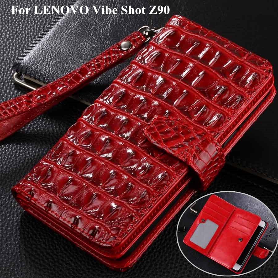 imágenes para 3D Cocodrilo PU Billetera de cuero Funda Para El Lenovo Vibe Tiro Caso Caja Del Teléfono Para Lenovo Vibe Tiro Z90 Z90