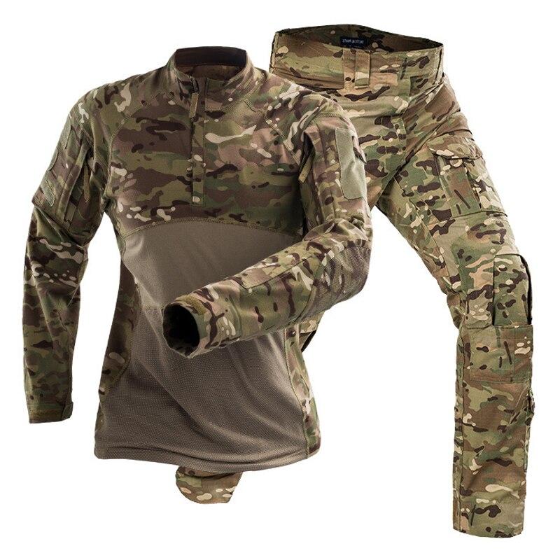 Táctico uniformes hombres Airsoft militares conjuntos de ropa de camuflaje Fuerza Especial trajes Paintball chaquetas pantalones No almohadillas