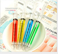2500pcs/set Fedex Fast Shipping Cute Korean Factory Stationery Needle Syringe Needle Ball Pen Wholesale Syringe Pen Kids Toy Pen
