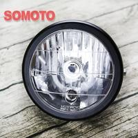 Vintage reflektor motocyklowy odległość światła dolna wiązka E4 H1 żarówka  12V 35W Super jasna żarówka do montażu reflektor motocyklowy na