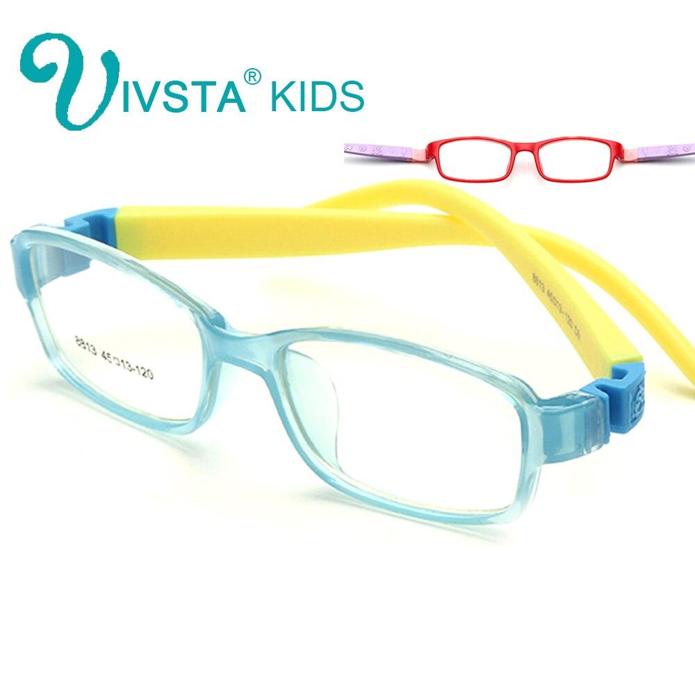 IVSTA 8813 No Screw Flexible TR Kids Optical Frame Eyeglasses Girls Glasses Cute Cartoon Rubber Sleeve For Children Prescription
