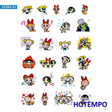 Powerpuff Girls Stickers for Girl Children Kids Gift DIY Letter Diary Scrapbooking Stationery Pegatinas Stickers