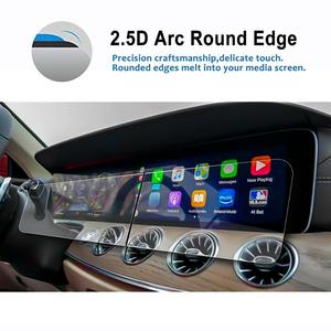 Image 4 - Ruiya 2 pçs protetor de tela para 2019 g class w464 12.3 Polegada tela de navegação do carro auto interior adesivos acessórios
