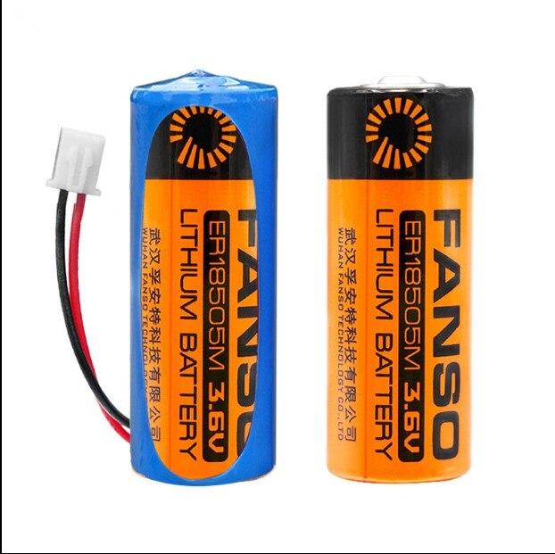 HOT NEW battery ER18505M ER1850518505 3 6V 3500mah LiSOCI2 lithium battery Li ion battery with plug