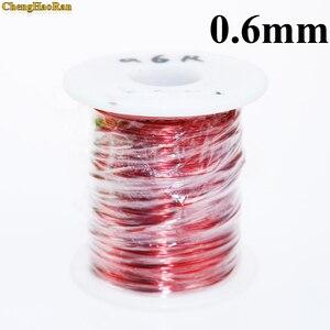 Image 2 - ChengHaoRan 0.6 mm 1m QA 1 155 Polyurethane enameled Wire Copper Wire enameled Repair Magnet Wire 0.6R 1meter