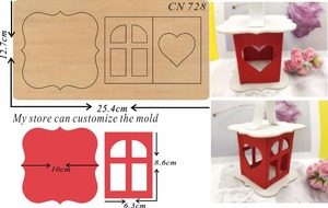 Image 1 - Christmas lantern & Scrapbook cut sky & steel wooden dies Compatible with most machines