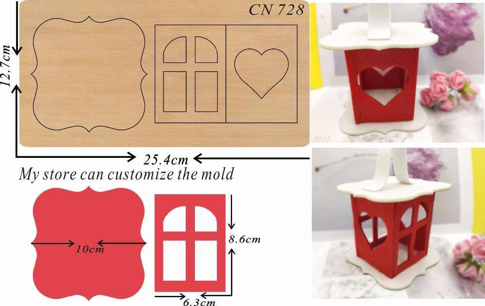 Lanterna de natal & scrapbook corte céu & aço dados de madeira compatível com a maioria das máquinas