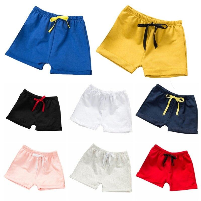 2018 Jungen Shorts Baby-kleidung Baumwolle Sport-und Freizeit Candy Farbe Baby Shorts Sommer Mode Kinder Kleidung Jungen Hosen Sparen Sie 50-70%