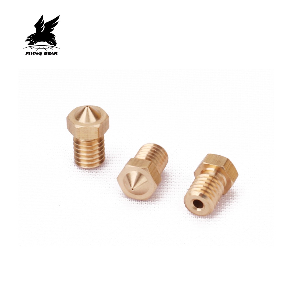 Flyingber size 0.2/0.4/0.3/0.5/0.8  Brass parts Printer Head for MK8 1.75mm ABS PLA Printer