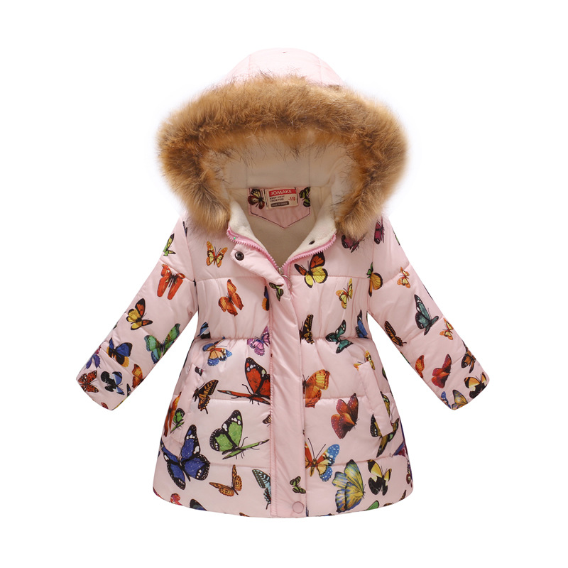 Winter Girls Warm Down Jackets Kids Fashion Printed Thick Outerwear Children Clothing Autumn Baby Girls Cute Jacket Hooded Coats (14)