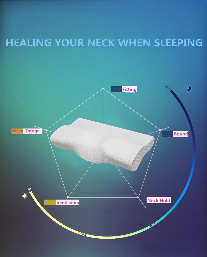 Orthopedic Latex Magnetic Neck Pillow 9