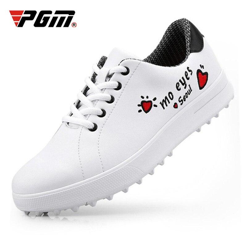 PGM Korean Women Golf Shoes Women s Leisure Section Fixed Nail Waterproof Non slip Printing Girls