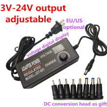 Adaptor Daya Adjustable DC 3V 5V 6V 7V 8V 9V 10V 11V 12V 14V 15 16V 17V 18V 19V 20V 21V 22V 23V 24V 2A Power Supply Display(China)