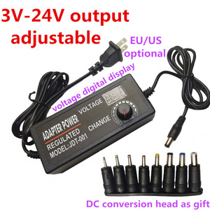Image 1 - Power adapter Adjustable DC 3V 5V 6V 7V 8V 9V 10V 11V 12V 14V 15V 16V 17V 18V 19V 20V 21V 22V 23V 24V 2A Power Supply display