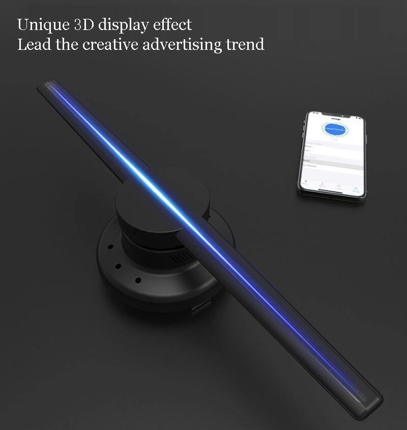 3D hologramme publicité machine ventilateur lampe de projection suspension en trois dimensions rotatif air imagerie publicité livraison gratuite