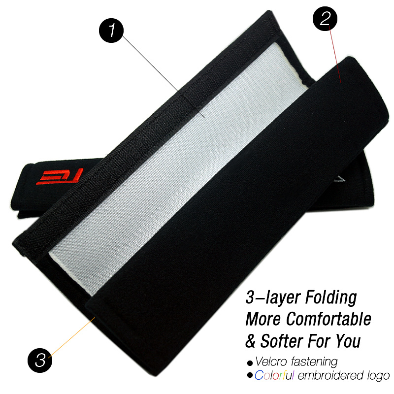 50pair promotional small sale Car Truck comfortable Seat Belt Cover for Mixed order