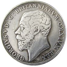 Great Britain George V silver Proof Pattern Crown 1910 Silver Plated Letter Edge Copy Coin(China)