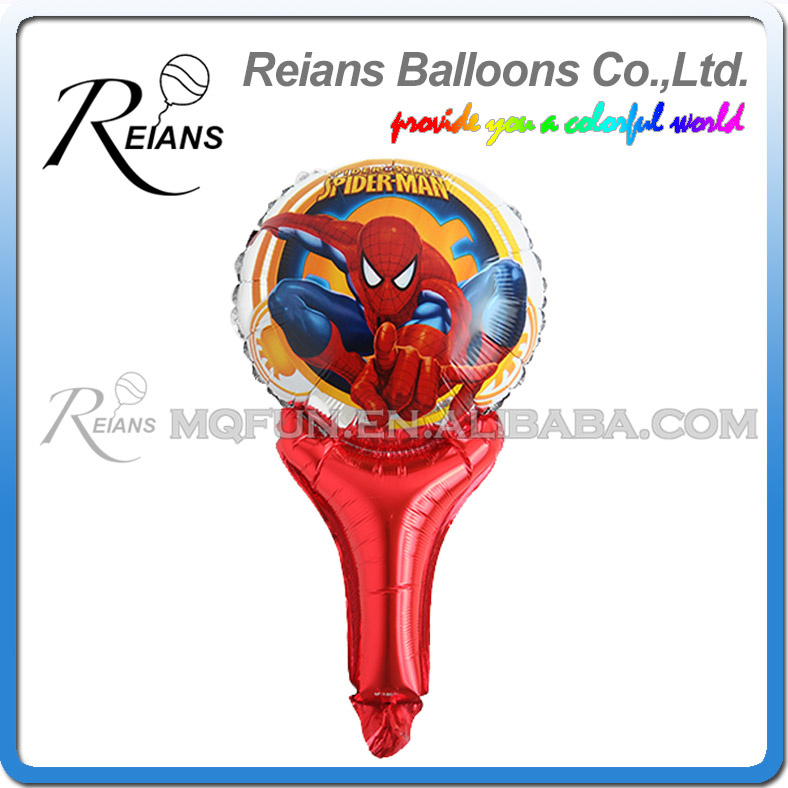 Image 4 - 5pcs avenger super hero stick balloons cartoon figure handheld foil balloons party supplies birthday party decorations kids toys-in Ballons & Accessories from Home & Garden
