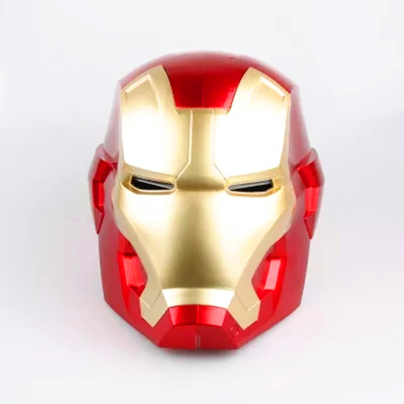 1:1 High Quality Iron Man Helmet Cosplay Adult Touch Sensing Mask With LED Light Collectible Model Toy G24 free shipping iron man motorcycle helmet mask tony stark mark 7 cosplay mask with led light