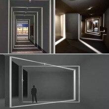 Zewnętrzna wodoodporna IP67 LED kinkiet, montowane na powierzchni kinkiet led liner nawy sypialnia oświetlenie dekoracyjne okno ściana światło