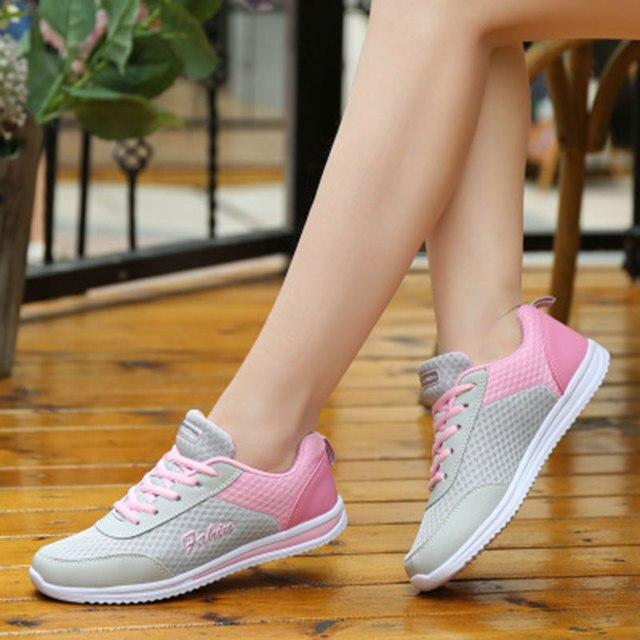 826dba1b4e Rede Macio Mulher Sapatos Casuais 2018 Novas Mulheres sapatilha tenis  feminino moda Malha Respirável sports Shoes