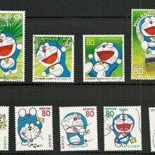 Распродажа 9 шт./лот Япония мультфильм Doraemon без повтора неиспользованные почтовые марки для сбора