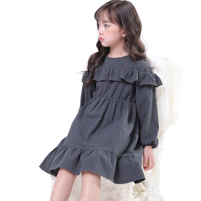 314bb4850f chinese style simple dresses age for 3 - 10 yrs baby girls long sleeve dress  2019