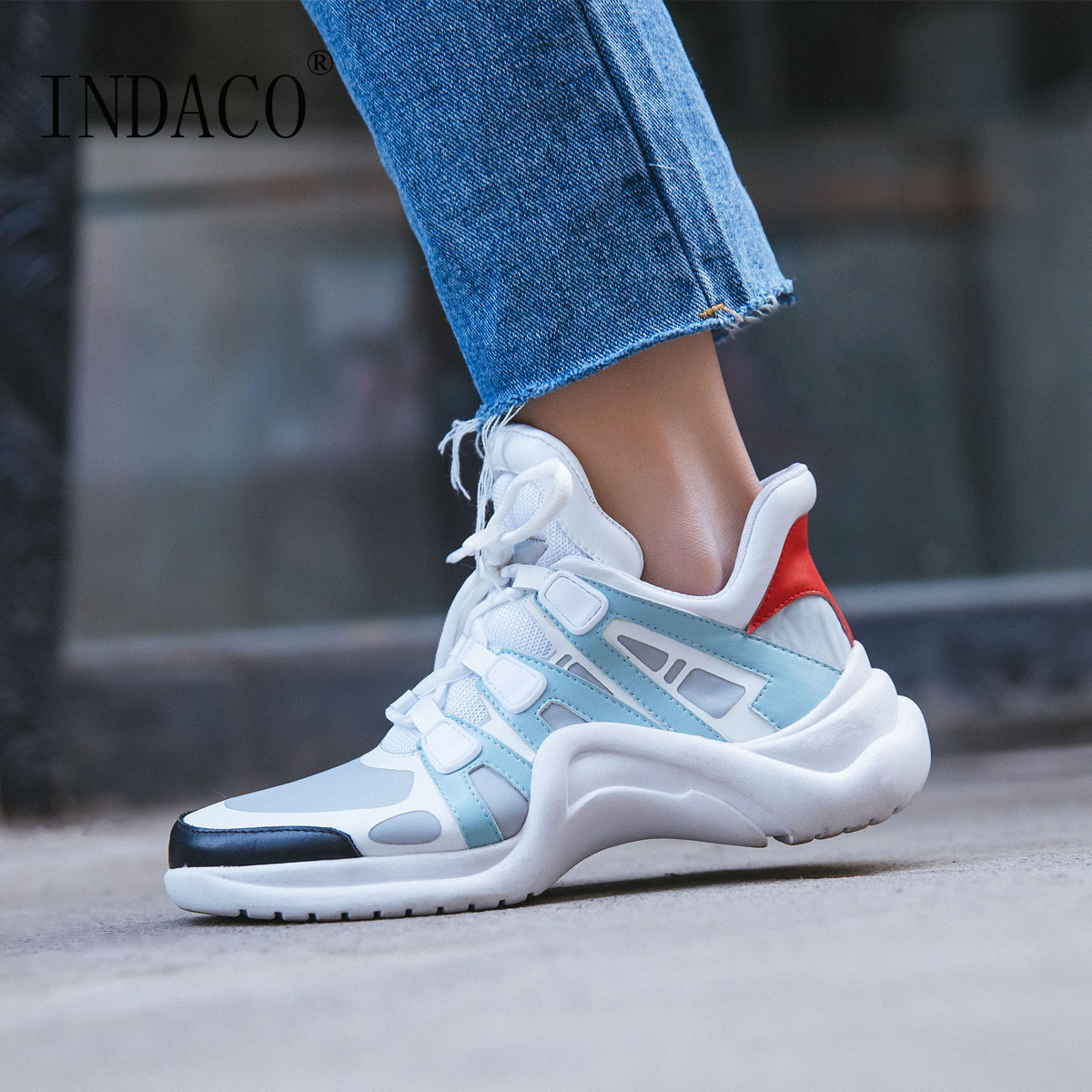 Breathable Women Sneakers Leather 2018 New Designer Shoes Casual Footwear Fashion Sneakers Women 5cm 2018 new casual leather sneakers red black lace up comfortable footwear women sneakers shoes 6 5cm