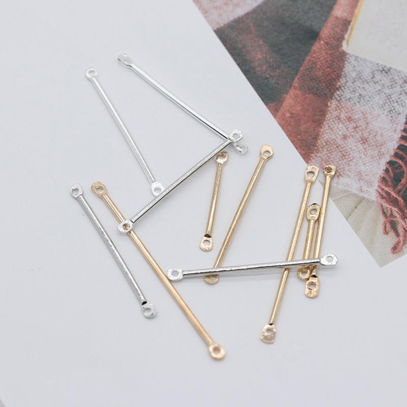 Arts,crafts & Sewing 100p 16/20/25/30/35/40mm Silver Gold Metal Bar Earring Pendants Tassel Link Chain Necklace Bracelet Craft Diy Connectors Buckles Pleasant In After-Taste Buckles & Hooks