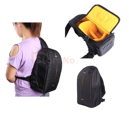 Gopro DSLR Digital Camera Backpack Case Pro Sling Shoulder Bag with Rain Cover for Can&n Nik&n S&ny Fujifilm FinePix Fuji DSLR