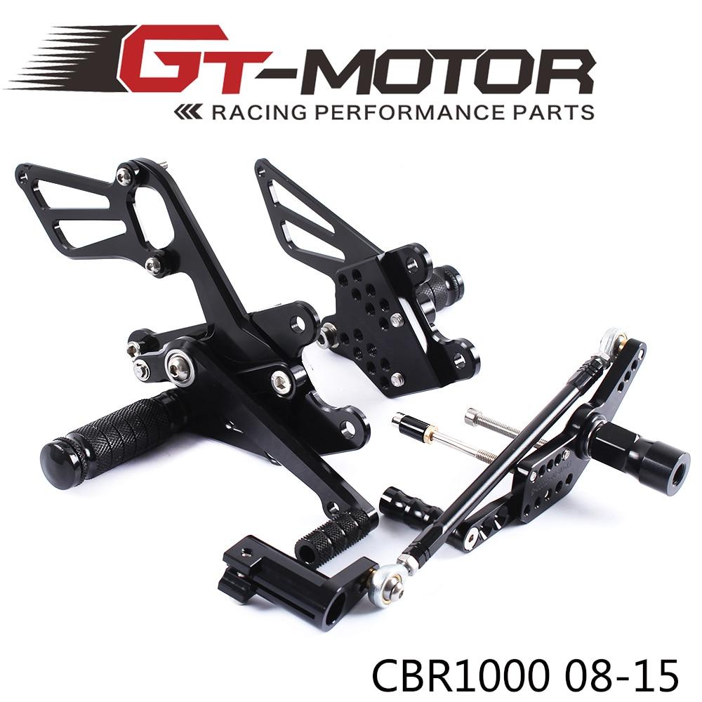 GT Motor - Full CNC aluminum Motorcycle Rearsets Rear Set For HONDA CBR1000RR NON-ABS  2008-2015