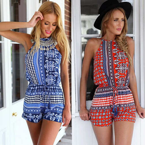 a487f78cae0 Women Sexy Backless Hollow Out Summer Short Chiffon Plus Size Combinaison  Monos Rompers Jumpsuit Cute Boho Combishort Veralls on Aliexpress.com