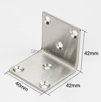 40mm Stainless Steel Angle Bracket Satin Finish Frame Board Support